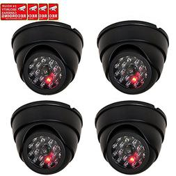 VideoSecu 4 Pack Dome Dummy Fake Infrared IR CCTV Surveillan