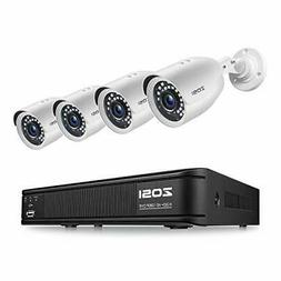 ZOSI 720P 8-Channel Home Security Camera System,1080N HD-TVI