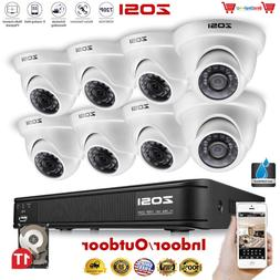 ZOSI 720p HD-TVI 8 Channel Security Camera System,1080N Surv