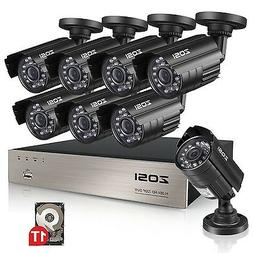 ZOSI 8-Channel FULL 1080P HD-TVI Video Security System CCTV