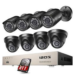 ZOSI 8CH 1080N HDMI DVR 720p IR-Cut CCTV Video Home Security