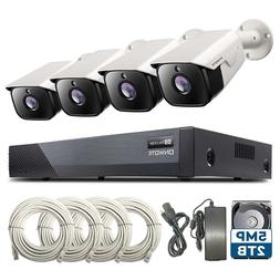 【Audio】 ONWOTE 5MP 8CH PoE Security Camera System, 8 Cha