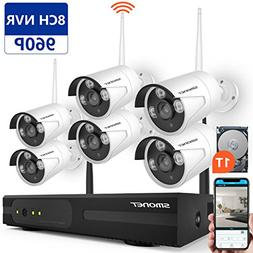 Wireless Security Camera System,SMONET 8CH 960P Wireless Vid