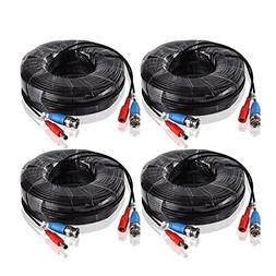 ANNKE 4-Pack 60 Feet  BNC Video Power Cable Security Camera