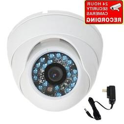 """VideoSecu Dome Built-in 1/3"""" SONY CCD Security Camera 600TVL"""