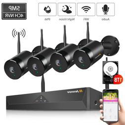 Jennov CCTV IP Camera System 5MP 4CH NVR Wireless Audio Surv