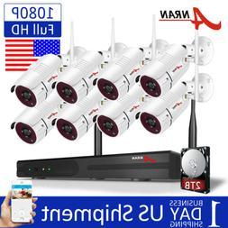 ANRAN CCTV Security Camera System 1TB HDD 8CH 1080P Wireless