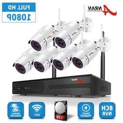 ANRAN Security Camera System Wireless 1080P WIFI 8CH NVR Hom