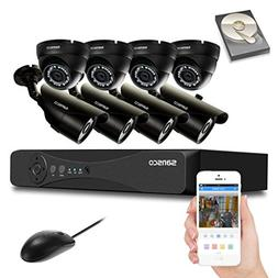 SANSCO CCTV Security Camera System with 8-Channel 1080P Smar