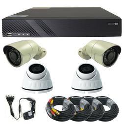 Complete 4Ch 720p HD TVI Surveillance System  4 720p 1MP Sec