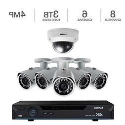 Dome Camera Security System Lorex 8ch 4K HD NVR, 5 4MP Color