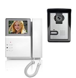 AMOCAM Video Door Phone System, 4.3 Inch Clear LCD Monitor W