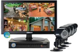 """Lorex DVR/NVR 4 Cam 8 Channels LH1845L19 Bullet 19"""" LED Mo"""