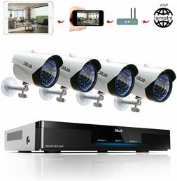 ELEC E-Cloud 720P Video Security System 4PCS Surveillance Ca