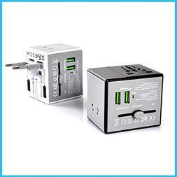 E-KIA Travel Plug International Adapters,USB Universal Con