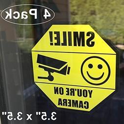 """Front Self Adhesive Vinyl Outdoor/Indoor  3.5"""" X 3.5"""" Home B"""