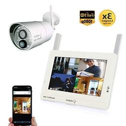 Sequro GuardPro2 1080P Wireless Security Camera System Long