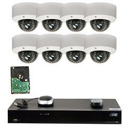 GW Security 8CH H.265 4K NVR 5-Megapixel  4X Optical Zoom Ne