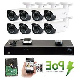 GW Security 8 Channel 4K NVR HD 1920P H.265 IP PoE Security