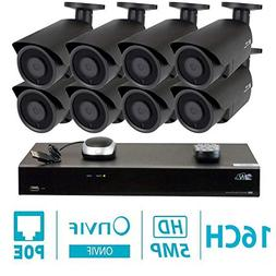 GW 8 Channel H.265 NVR 5-Megapixel Security Camera System, 8