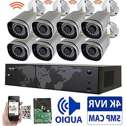 GW 8 Channel 5MP 1920P H.265 Wireless WiFi Security Camera S