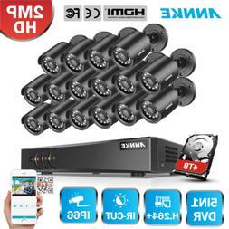 ANNKE H.264+ 16CH 1080P Lite DVR Security Camera System 2MP