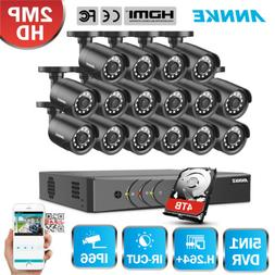 ANNKE H.264+ 16CH 2MP Security System 1080P Lite DVR 2500TVL
