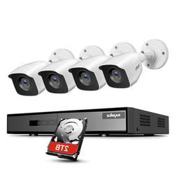 SANNCE H.264+ 4CH DVR Outdoor CCTV 1080P 2MP Video Security