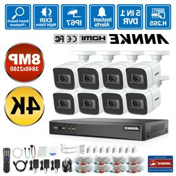 ANNKE H.265+ 4K 8CH DVR 8MP Security Camera System Outdoor I