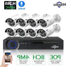 Hiseeu H.265 8CH 4MP POE <font><b>Security</b></font> Camera
