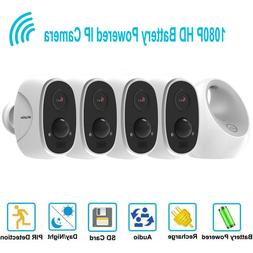4 security camera system outdoor hd 1080p