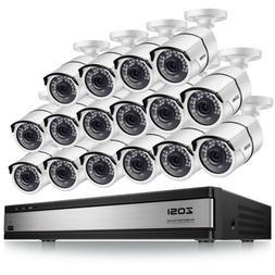 ZOSI HD 16 CH Channel 1080P Surveillance DVR 2MP Security Ca
