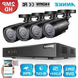 ANNKE HD 2MP Security System 8CH 1080P Lite DVR 4x 2000TVL C
