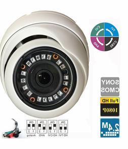 HD CVI 1080P Dome Camera 2.4MP Sony CMOS 2.8mm Fixed 24 IR O