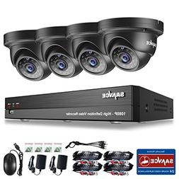1080P Metal Security Camera, SANNCE 4 Channel 1080P HDMI DVR