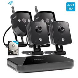 Zmodo 4CH NVR 4 720p HD Wireless IP
