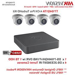 Hikvision T7104Q1TA 4-Channel 1080p DVR with 1TB HDD and 4 1