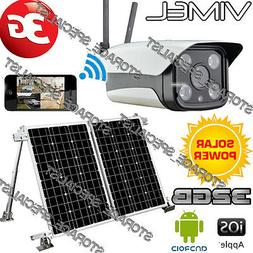 Home Security Camera Solar Farm 3G GSM IP Alarm System Wirel