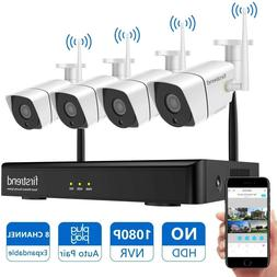 Home Security Camera System Wireless 1080P NVR with 4pcs 720