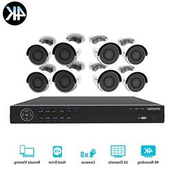 LaView 16 channel 4K home security system with 8 8MP 4K Bull