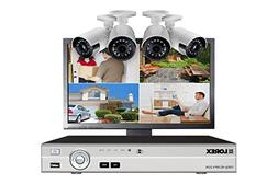 Lorex Home security system with 4-channel DVR, 4 HD wide ang