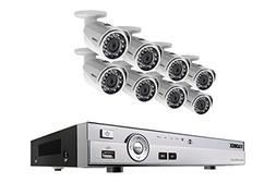 HD 1080p home security system with 8 security cameras