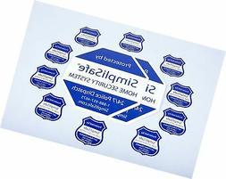 SimpliSafe Home Security System Sign Combo Set Yard Sign x2