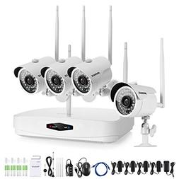 ANNKE Home Wireless Security Camera System 4-Channel 960P NV
