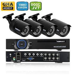 FLOUREON House Camera 8CH 1080N AHD CCTV DVR House Security