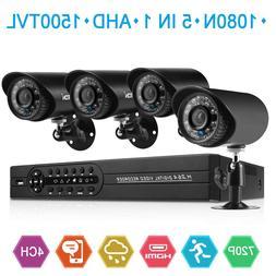House Security Camera System 1080N DVR + 4 Pack 1500TVL Nigh