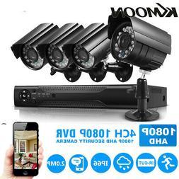 KKMoon 4CH 1080P DVR AHD 1080P CCTV Camera Outdoor Surveilla