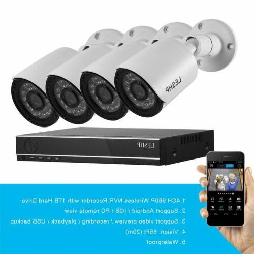 1080N DVR + 4 Bullet Camera +1TB