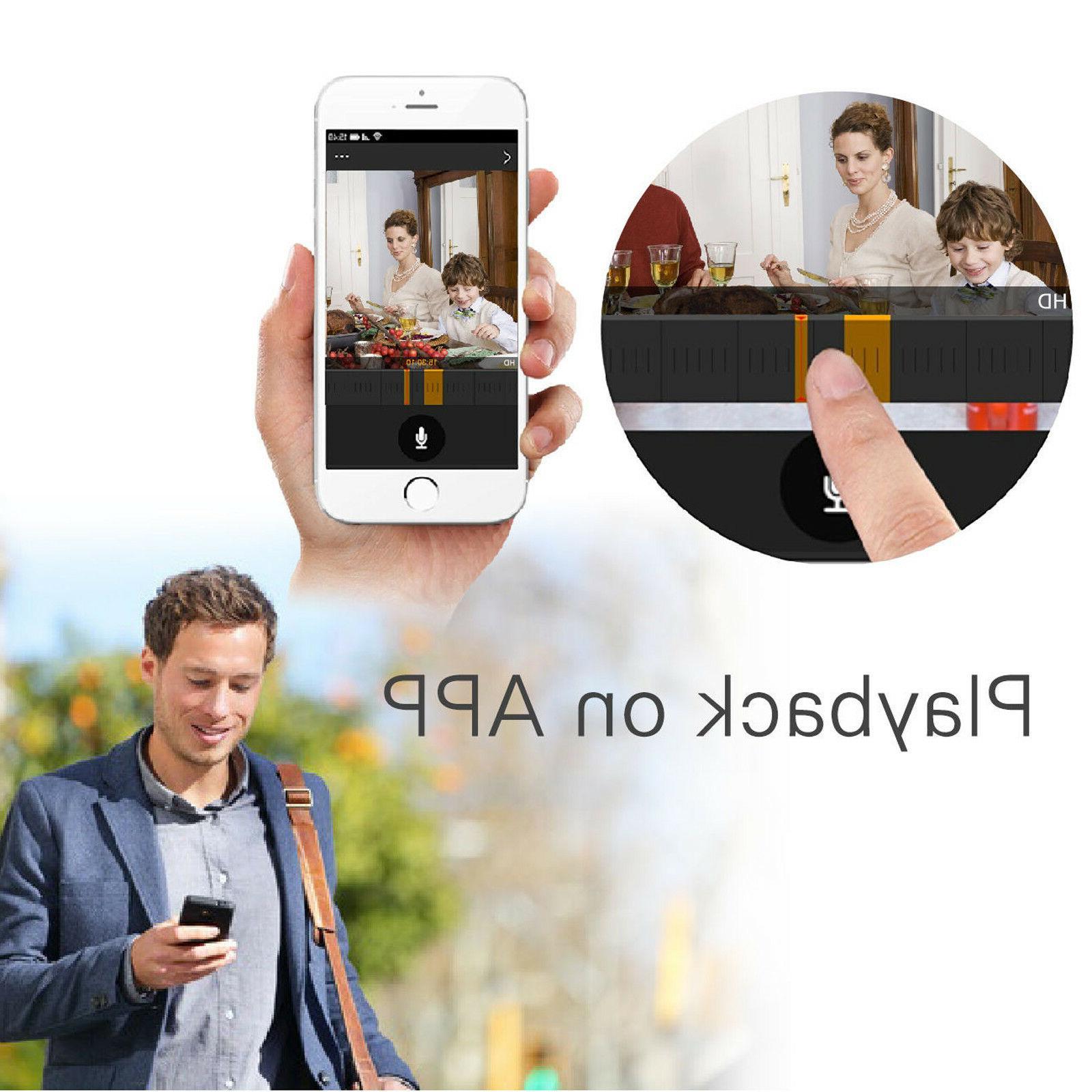 SmartSF 1080P DVR Outdoor Home 720P Camera System Recorder