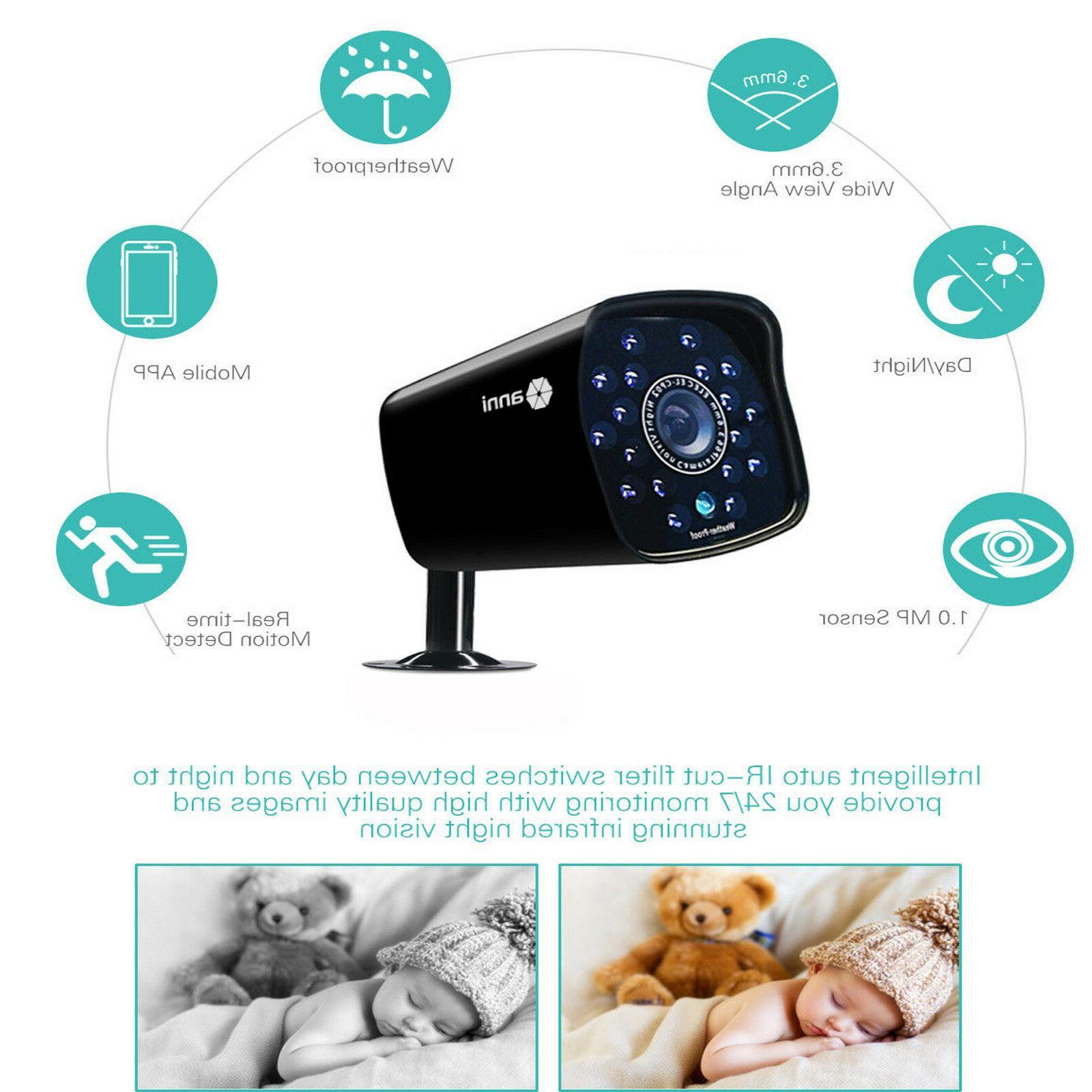 SmartSF Outdoor 720P Camera System HD CCTV